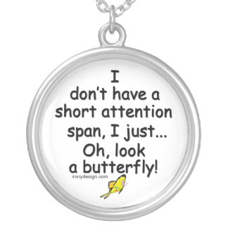 Short Attention Span Butterfly Necklace
