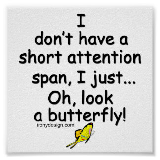 Short Attention Span Butterfly Posters