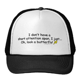 Short Attention Span Butterfly Trucker Hat