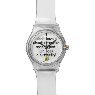 Short Attention Span Butterfly Wrist Watch