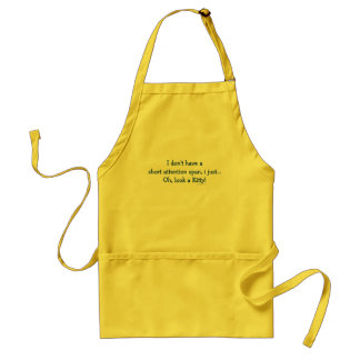 Short Attention Span Kitty (blue) Standard Apron