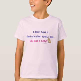 Short Attention Span Kitty Humor Tees
