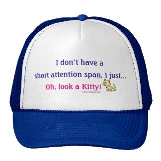 Short Attention Span Kitty Humor Trucker Hat