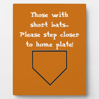 Short Bats Bathroom Plaque