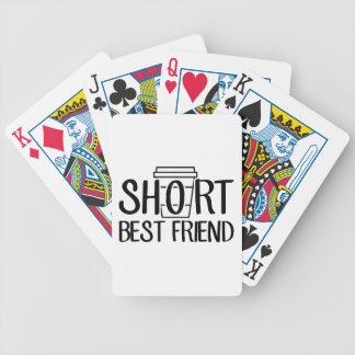 Short Best Friend Bicycle Playing Cards