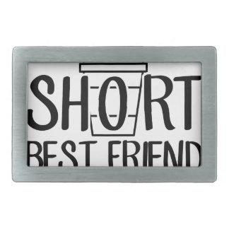 Short Best Friend Rectangular Belt Buckles