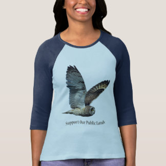 Short-eared Owl Support Our Public Lands T-Shirt