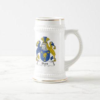 Short Family Crest Beer Stein