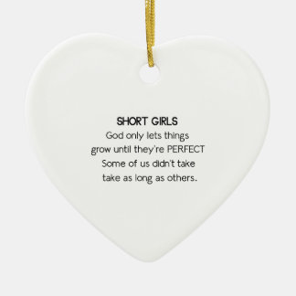 Short Girls Ceramic Ornament