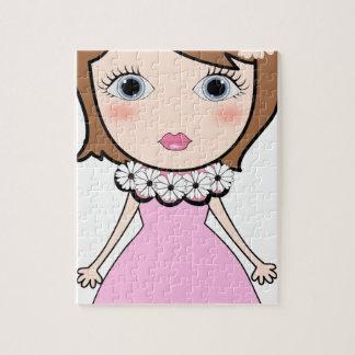 Short hair doll girl jigsaw puzzle