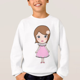 Short hair doll girl sweatshirt