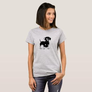 Short haired dachs women t-shirt