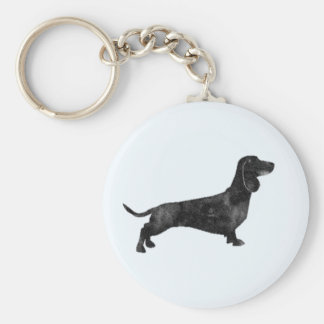 Short haired dachshund key chain