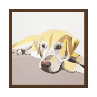 Short Haired Golden Retriever laying down Canvas Print