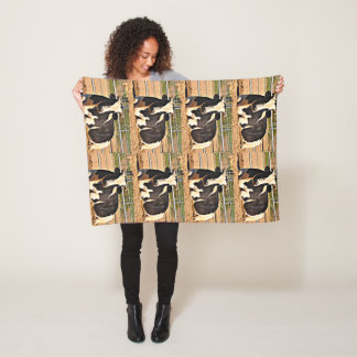 Short Horn Cow Fleece Blanket