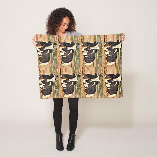 Short Horn Cow Fleece Blanket