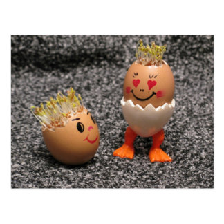 Short Man And Tall Man Eggmen Series Easter Card