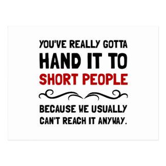 Short People Postcard