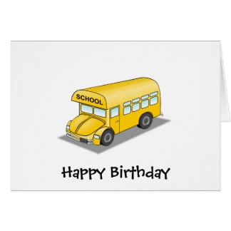 Short School Bus Card