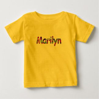 Short sleeve t-shirt for Marilyn in yellow color