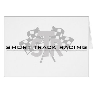 Short Track Racing Greeting Card