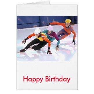 Short Track Speed Skating Greeting Card