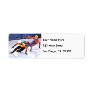 Short Track Speed Skating Return Address Label