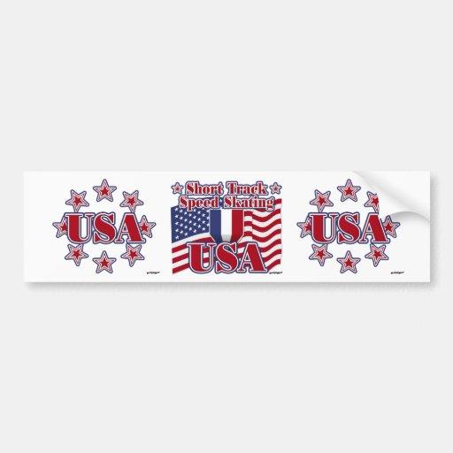 Short Track Speed Skating USA Bumper Sticker
