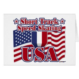 Short Track Speed Skating USA Card