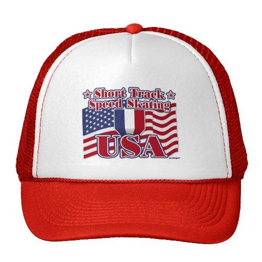 Short Track Speed Skating USA Hats