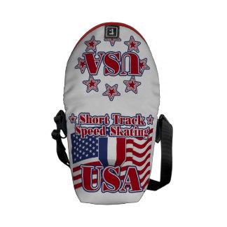Short Track Speed Skating USA Messenger Bag