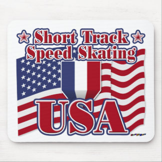 Short Track Speed Skating USA Mousepad