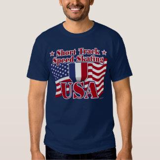 Short Track Speed Skating USA T Shirt