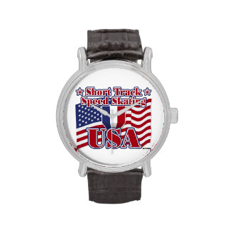 Short Track Speed Skating USA Wrist Watches