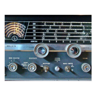 Short Wave Radio Receiver Postcard