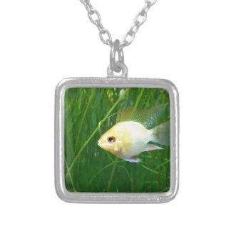 shortbodygoldenram_art1 silver plated necklace