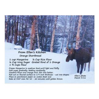 Shortbread Recipe Postcard