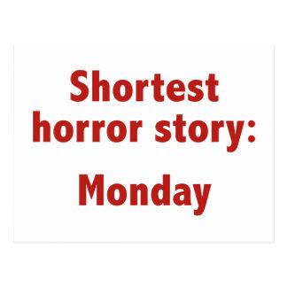 Shortest Horror Story: Monday Postcard
