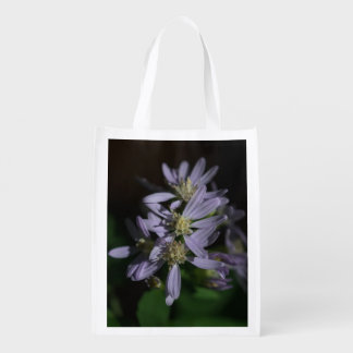 Short's Aster Purple Fall Wildflower Reusable Bag Reusable Grocery Bags