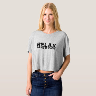 """Shorts flowy tee-shirt """"Relaxed take it easy """" T-shirt"""