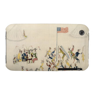 Shoshone dance participated in only by men (pigmen Case-Mate iPhone 3 cases