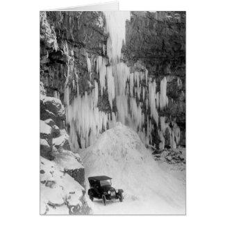 Shoshone Falls in Winter Card