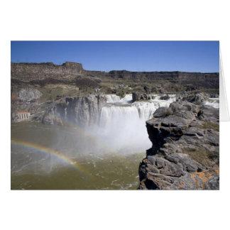 Shoshone Falls on the Snake River in Twin Falls, Greeting Card