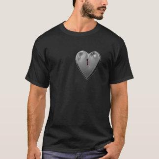 Shot and Bleeding Metal Heart, T-Shirt
