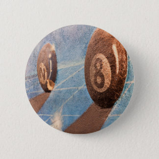 Shot of billiard balls illustration on the wall 2 inch round button