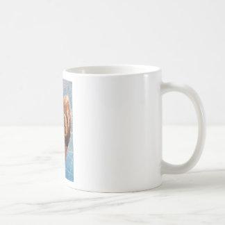 Shot of billiard balls illustration on the wall coffee mug