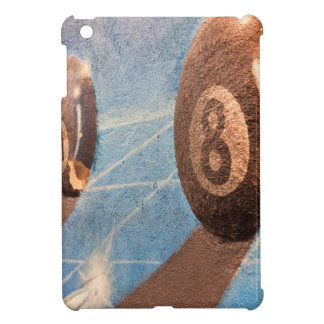 Shot of billiard balls illustration on the wall iPad mini case