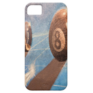 Shot of billiard balls illustration on the wall iPhone 5 cover