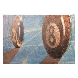 Shot of billiard balls illustration on the wall placemat