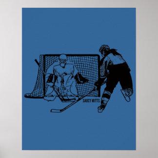 Shot On Net Hockey (female) Poster